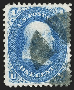 Sale Number 1199, Lot Number 1172, 1875 Re-Issue of 1861-66 Issue (Scott 102-111)1c Blue, Re-Issue (102), 1c Blue, Re-Issue (102)