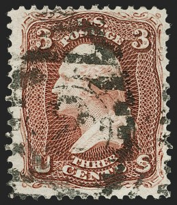 Sale Number 1199, Lot Number 1175, 1875 Re-Issue of 1861-66 Issue (Scott 102-111)3c Brown Red, Re-Issue (104), 3c Brown Red, Re-Issue (104)