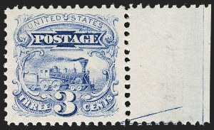 Sale Number 1199, Lot Number 1181, 1869 Pictorial Issue (Scott 112-122)3c Ultramarine (114). Mint N.H, 3c Ultramarine (114). Mint N.H