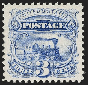 Sale Number 1199, Lot Number 1183, 1869 Pictorial Issue (Scott 112-122)3c Ultramarine (114). Mint N.H, 3c Ultramarine (114). Mint N.H