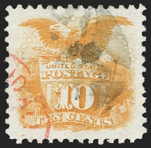 Sale Number 1199, Lot Number 1190, 1869 Pictorial Issue (Scott 112-122)10c Yellow (116), 10c Yellow (116)