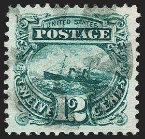 Sale Number 1199, Lot Number 1191, 1869 Pictorial Issue (Scott 112-122)12c Green (117), 12c Green (117)