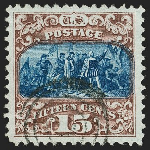Sale Number 1199, Lot Number 1196, 1869 Pictorial Issue (Scott 112-122)15c Brown & Blue, Ty. II (119), 15c Brown & Blue, Ty. II (119)