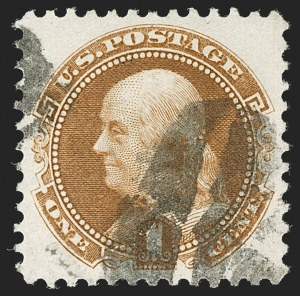 Sale Number 1199, Lot Number 1204, 1875 Re-Issue of 1869 Pictorial Issue (Scott 123-133a)1c Buff, Re-Issue (123), 1c Buff, Re-Issue (123)