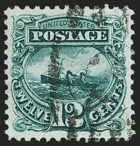 Sale Number 1199, Lot Number 1209, 1875 Re-Issue of 1869 Pictorial Issue (Scott 123-133a)12c Green, Re-Issue (128), 12c Green, Re-Issue (128)