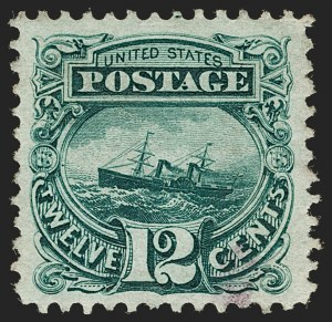 Sale Number 1199, Lot Number 1210, 1875 Re-Issue of 1869 Pictorial Issue (Scott 123-133a)12c Green, Re-Issue (128), 12c Green, Re-Issue (128)