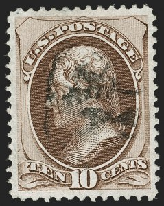 Sale Number 1199, Lot Number 1225, 1870-71 National Bank Note Co. Issue (Scott 134-155)10c Brown, H. Grill (139), 10c Brown, H. Grill (139)
