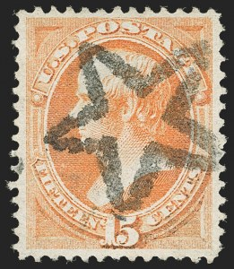 Sale Number 1199, Lot Number 1237, 1870-71 National Bank Note Co. Issue (Scott 134-155)15c Bright Orange (152), 15c Bright Orange (152)