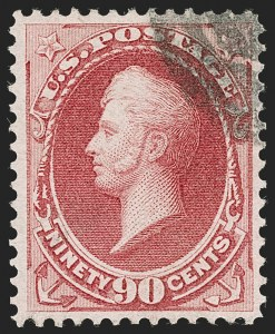 Sale Number 1199, Lot Number 1242, 1870-71 National Bank Note Co. Issue (Scott 134-155)90c Carmine (155), 90c Carmine (155)