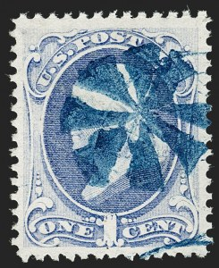 Sale Number 1199, Lot Number 1243, 1873 Continental Bank Note Co. Issue (Scott 156-166)1c Ultramarine (156), 1c Ultramarine (156)