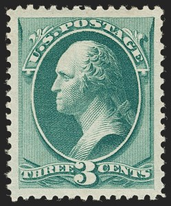 Sale Number 1199, Lot Number 1258, 1879-83 American Bank Note Co. Issues (Scott 182-211)3c Green (184), 3c Green (184)