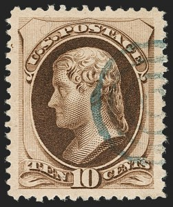 Sale Number 1199, Lot Number 1261, 1879-83 American Bank Note Co. Issues (Scott 182-211)10c Brown, With Secret Mark (188), 10c Brown, With Secret Mark (188)