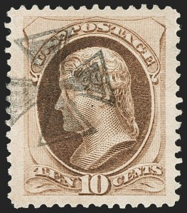 Sale Number 1199, Lot Number 1262, 1879-83 American Bank Note Co. Issues (Scott 182-211)10c Brown, With Secret Mark (188), 10c Brown, With Secret Mark (188)