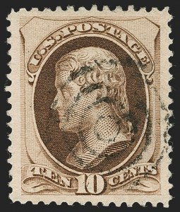 Sale Number 1199, Lot Number 1263, 1879-83 American Bank Note Co. Issues (Scott 182-211)10c Brown, With Secret Mark (188), 10c Brown, With Secret Mark (188)