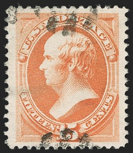 Sale Number 1199, Lot Number 1266, 1879-83 American Bank Note Co. Issues (Scott 182-211)15c Red Orange (189), 15c Red Orange (189)