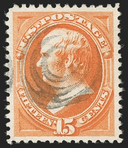 Sale Number 1199, Lot Number 1267, 1879-83 American Bank Note Co. Issues (Scott 182-211)15c Red Orange (189), 15c Red Orange (189)