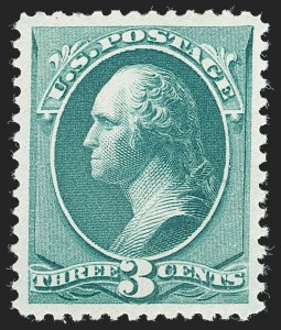 Sale Number 1199, Lot Number 1269, 1879-83 American Bank Note Co. Issues (Scott 182-211)3c Blue Green (207), 3c Blue Green (207)