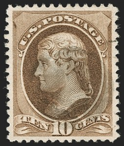 Sale Number 1199, Lot Number 1272, 1879-83 American Bank Note Co. Issues (Scott 182-211)10c Brown (209), 10c Brown (209)