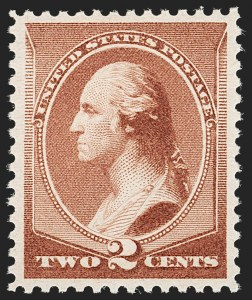Sale Number 1199, Lot Number 1273, 1879-83 American Bank Note Co. Issues (Scott 182-211)2c Red Brown (210), 2c Red Brown (210)