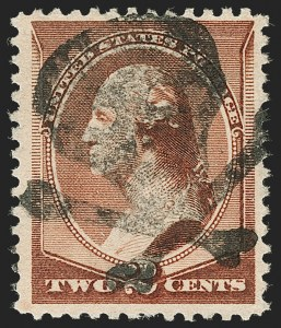 Sale Number 1199, Lot Number 1277, 1879-83 American Bank Note Co. Issues (Scott 182-211)2c Red Brown (210), 2c Red Brown (210)