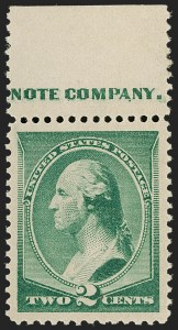 Sale Number 1199, Lot Number 1282, 1887 American Bank Note Co. Issue (Scott 212-218)2c Green (213), 2c Green (213)