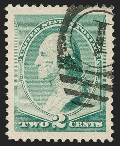 Sale Number 1199, Lot Number 1284, 1887 American Bank Note Co. Issue (Scott 212-218)2c Green (213), 2c Green (213)