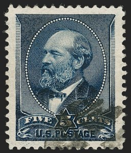 Sale Number 1199, Lot Number 1288, 1887 American Bank Note Co. Issue (Scott 212-218)5c Indigo (216), 5c Indigo (216)