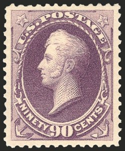 Sale Number 1199, Lot Number 1290, 1887 American Bank Note Co. Issue (Scott 212-218)90c Purple (218), 90c Purple (218)
