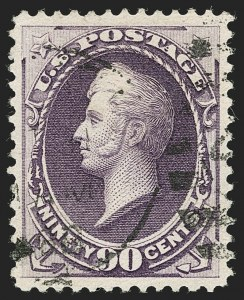 Sale Number 1199, Lot Number 1291, 1887 American Bank Note Co. Issue (Scott 212-218)90c Purple (218), 90c Purple (218)