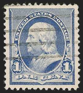 Sale Number 1199, Lot Number 1292, 1890-93 Issue (Scott 219-229)1c Dull Blue (219), 1c Dull Blue (219)