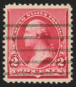 "Sale Number 1199, Lot Number 1295, 1890-93 Issue (Scott 219-229)2c Carmine, Cap on Both ""2""'s (220c), 2c Carmine, Cap on Both ""2""'s (220c)"