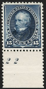 Sale Number 1199, Lot Number 1297, 1890-93 Issue (Scott 219-229)15c Indigo (227), 15c Indigo (227)