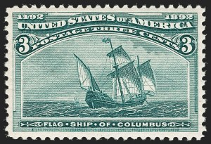 Sale Number 1199, Lot Number 1305, 1893 Columbian Issue (Scott 230-245)3c Columbian (232), 3c Columbian (232)