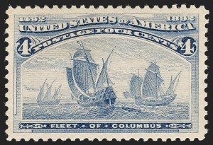 Sale Number 1199, Lot Number 1306, 1893 Columbian Issue (Scott 230-245)4c Columbian (233), 4c Columbian (233)