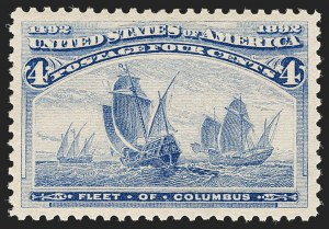 Sale Number 1199, Lot Number 1307, 1893 Columbian Issue (Scott 230-245)4c Columbian (233), 4c Columbian (233)