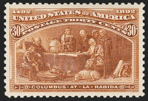 Sale Number 1199, Lot Number 1316, 1893 Columbian Issue (Scott 230-245)30c Columbian (239), 30c Columbian (239)