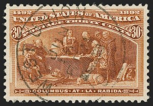 Sale Number 1199, Lot Number 1317, 1893 Columbian Issue (Scott 230-245)30c Columbian (239), 30c Columbian (239)