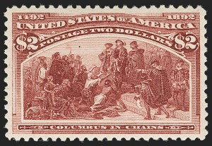Sale Number 1199, Lot Number 1322, 1893 Columbian Issue (Scott 230-245)$2.00 Columbian (242), $2.00 Columbian (242)