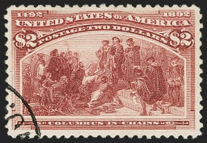 Sale Number 1199, Lot Number 1323, 1893 Columbian Issue (Scott 230-245)$2.00 Columbian (242), $2.00 Columbian (242)