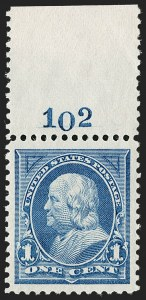 Sale Number 1199, Lot Number 1332, 1894 Unwatermarked Bureau Issue (Scott 246-263)1c Blue (247), 1c Blue (247)