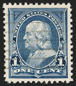 Sale Number 1199, Lot Number 1333, 1894 Unwatermarked Bureau Issue (Scott 246-263)1c Blue (247), 1c Blue (247)