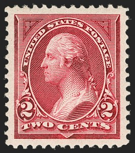Sale Number 1199, Lot Number 1335, 1894 Unwatermarked Bureau Issue (Scott 246-263)2c Carmine Lake, Ty. I (249), 2c Carmine Lake, Ty. I (249)