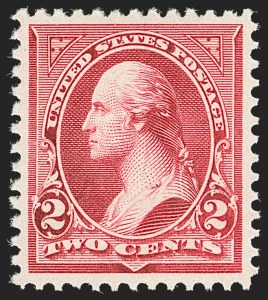 Sale Number 1199, Lot Number 1338, 1894 Unwatermarked Bureau Issue (Scott 246-263)2c Carmine, Ty. III (252), 2c Carmine, Ty. III (252)