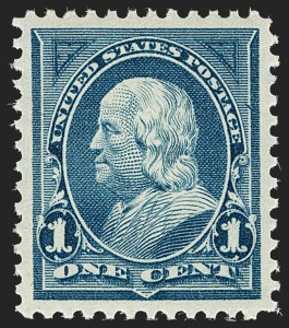 Sale Number 1199, Lot Number 1346, 1895 Watermarked Bureau Issue (Scott 264-278)1c Blue (264), 1c Blue (264)