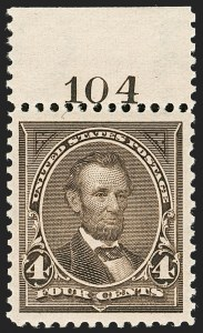 Sale Number 1199, Lot Number 1354, 1895 Watermarked Bureau Issue (Scott 264-278)4c Dark Brown (269), 4c Dark Brown (269)