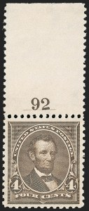 Sale Number 1199, Lot Number 1355, 1895 Watermarked Bureau Issue (Scott 264-278)4c Dark Brown (269), 4c Dark Brown (269)