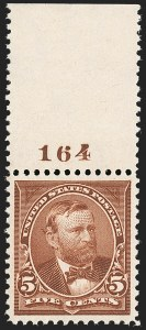 Sale Number 1199, Lot Number 1356, 1895 Watermarked Bureau Issue (Scott 264-278)5c Chocolate (270), 5c Chocolate (270)