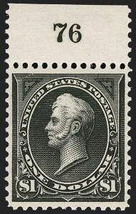 Sale Number 1199, Lot Number 1366, 1895 Watermarked Bureau Issue (Scott 264-278)$1.00 Black, Ty. I (276), $1.00 Black, Ty. I (276)