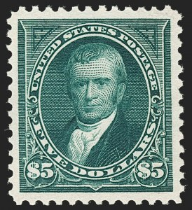 Sale Number 1199, Lot Number 1371, 1895 Watermarked Bureau Issue (Scott 264-278)$5.00 Dark Green (278), $5.00 Dark Green (278)