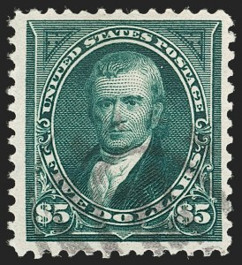 Sale Number 1199, Lot Number 1374, 1895 Watermarked Bureau Issue (Scott 264-278)$5.00 Dark Green (278), $5.00 Dark Green (278)